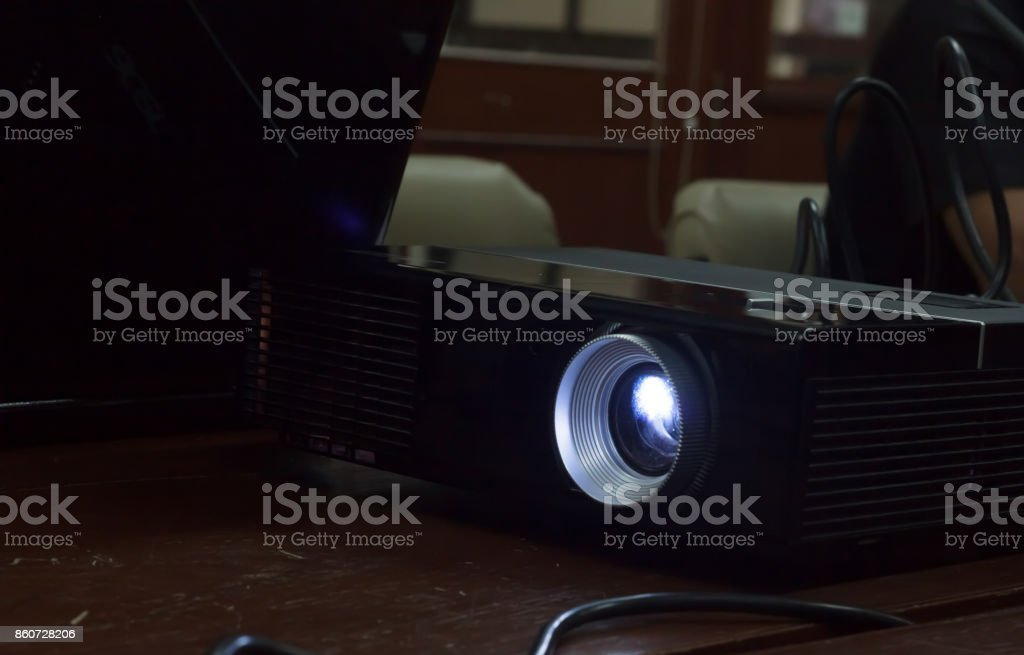 Projector for projection. stock photo