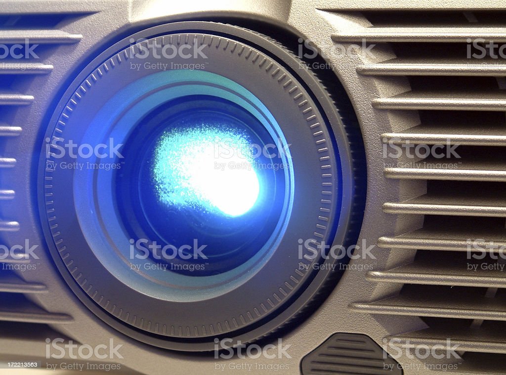 Projector Lense Eye royalty-free stock photo