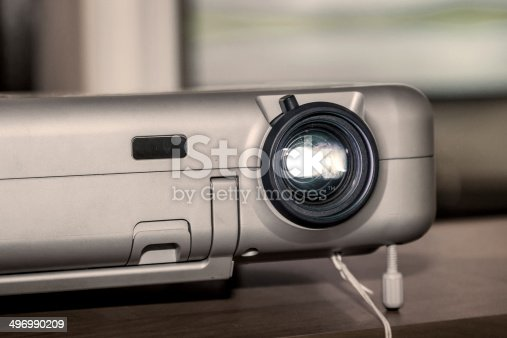 istock Projector on office table 496990209