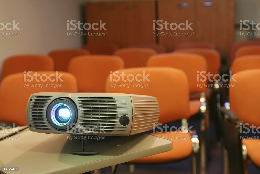 Projector ready for presentation royalty-free stock photo