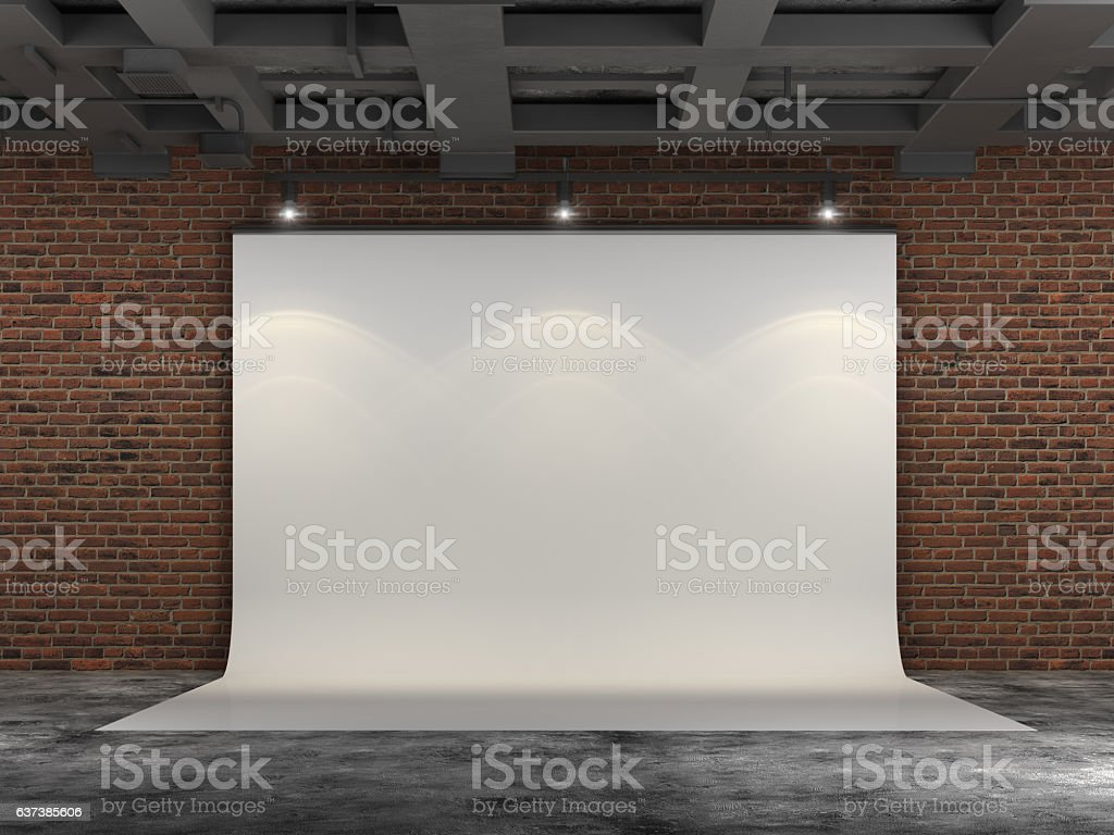 3D Projector Screen stock photo