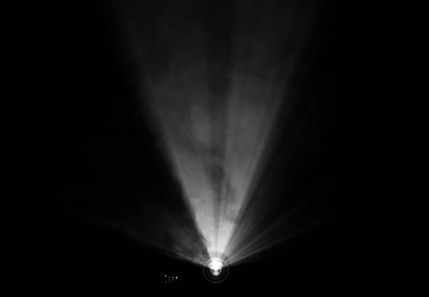 projector spotlight on smoke texture . - projection equipment stock pictures, royalty-free photos & images