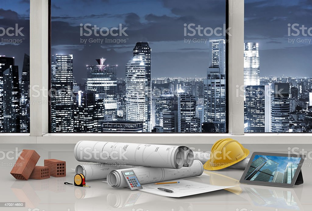 projects of modern architecture stock photo