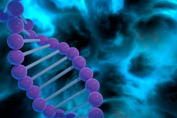 CRISPR prokaryotic DNA containing short repetitions stock photo