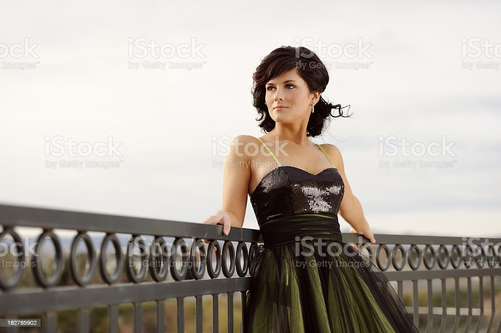 Prom Girl In Early Morning Light royalty-free stock photo