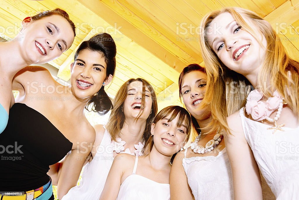 Prom Night, Teenage Girls Party royalty-free stock photo