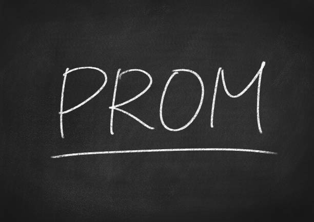 prom prom concept word on a chalkboard background prom night stock pictures, royalty-free photos & images