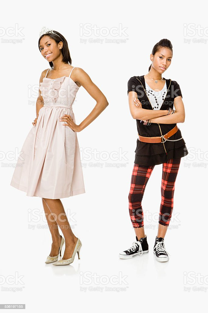 Prom queen and punk stock photo