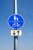 Promenade and cycle path sign