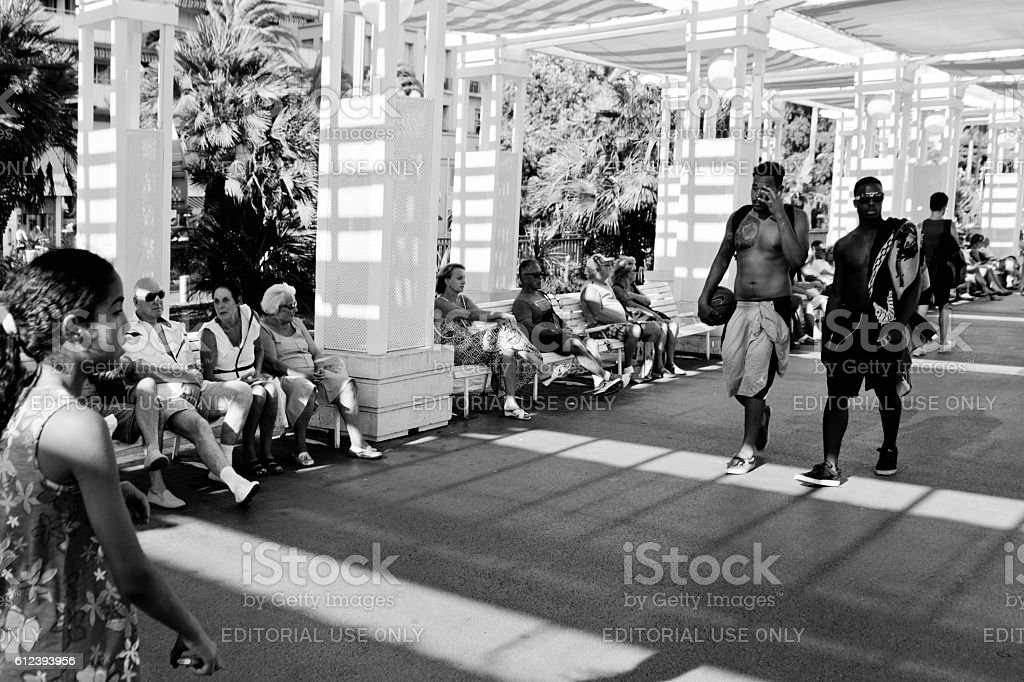 Promenade at Nice, France stock photo