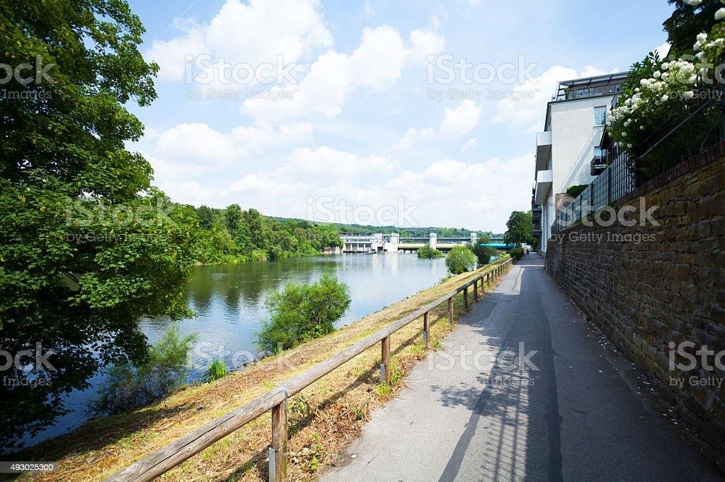 Promenade im Ruhrgebiet in Essen Werden – Foto