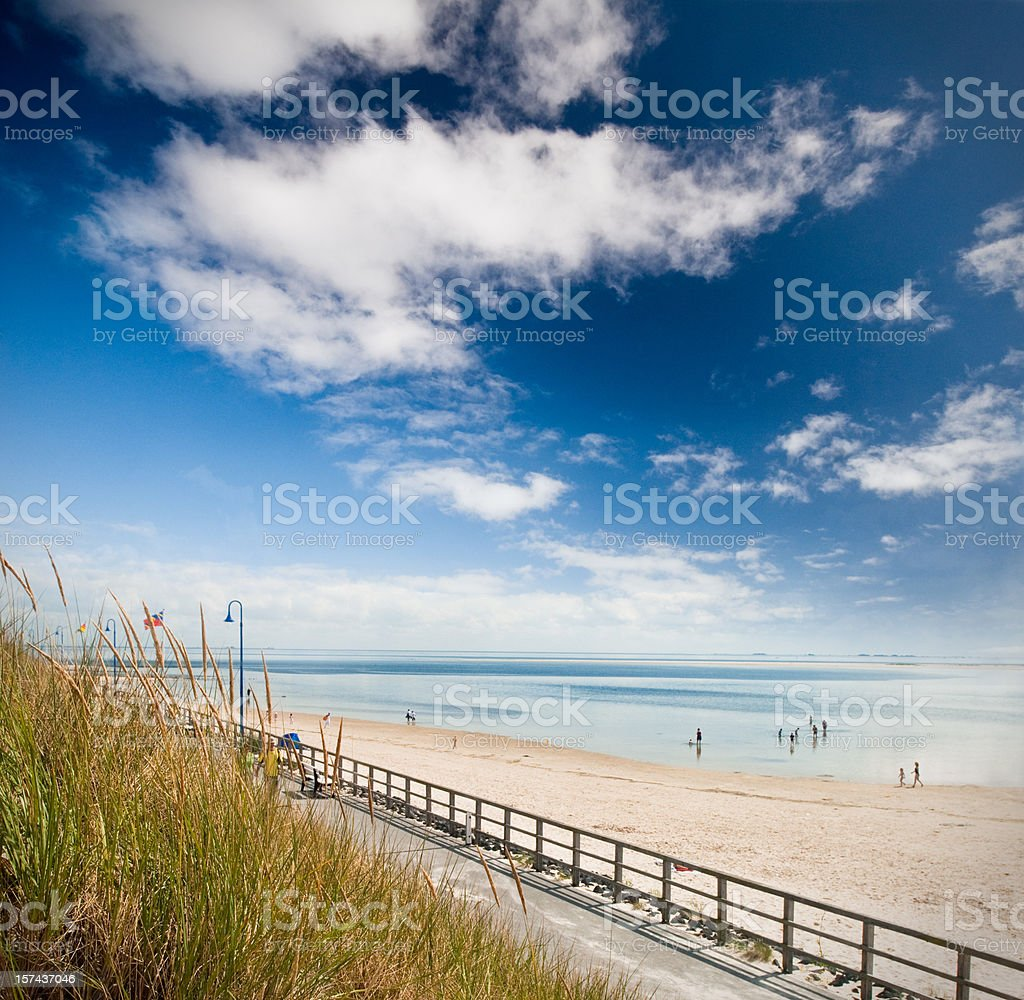 Promenade at the beach royalty-free stock photo
