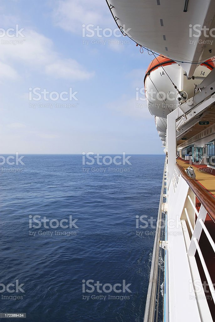 Promenade Deck on Cruise Ship royalty-free stock photo