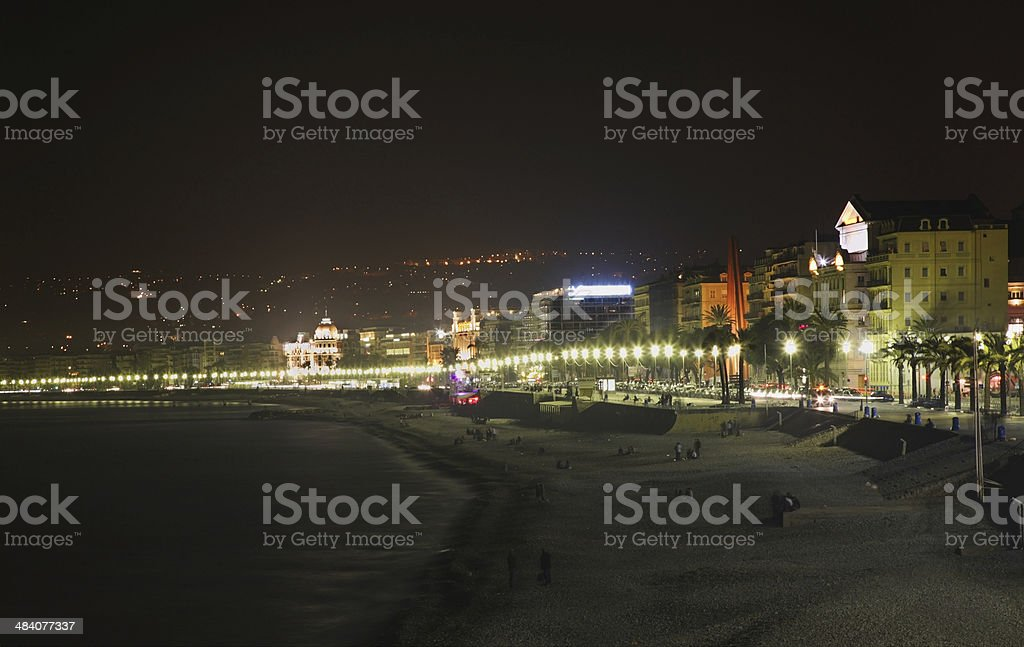 Promenade des Anglais in Nice. France stock photo