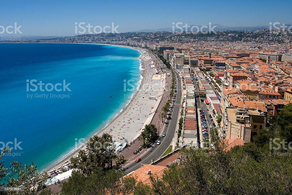 Promenade des Anglais in Nice royalty-free stock photo