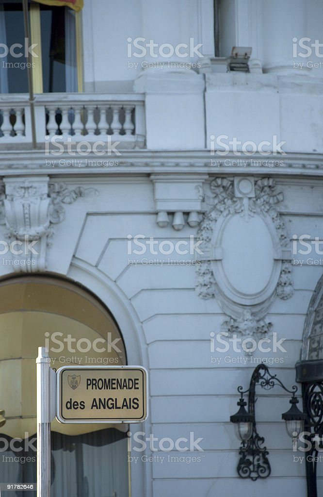 Promenade des anglais royalty-free stock photo