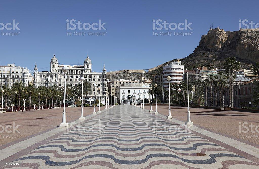 Promenade in Alicante, Spanien – Foto