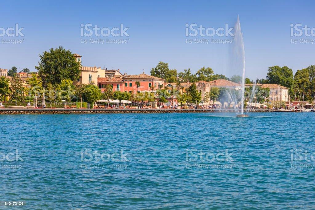 Promenade in Bardolino stock photo