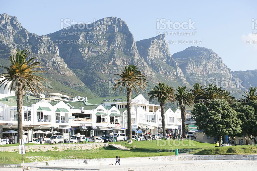 Promenade in Camps Bay stock photo