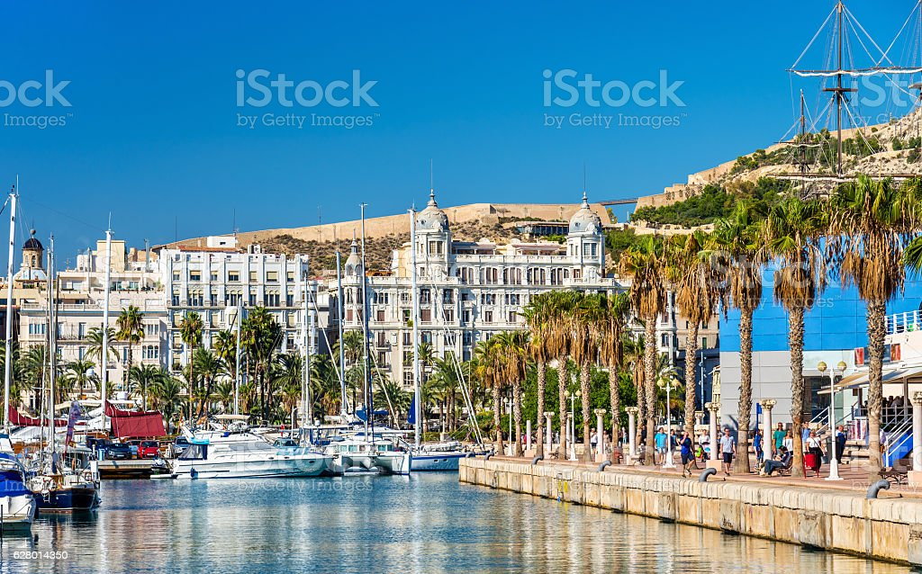 Promenade in the Marina of Alicante, Spain – Foto