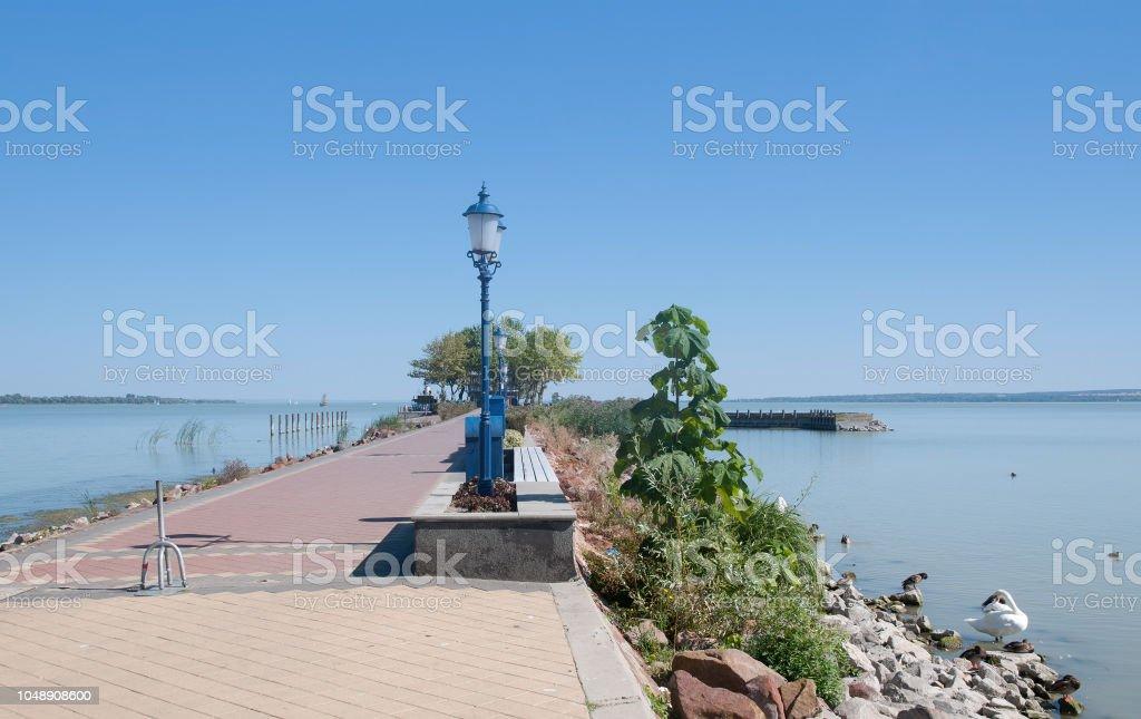 Promenade of Keszthely,Lake Balaton,Hungary – zdjęcie