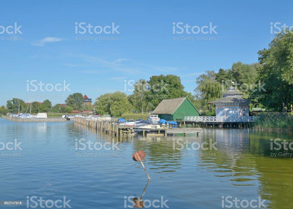 Promenade of Neustrelitz,Mecklenburg Lake District,Germany stock photo