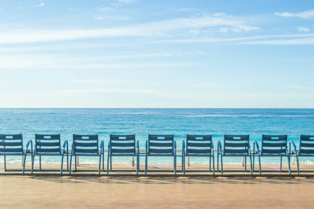 Promenade of Nice, France stock photo