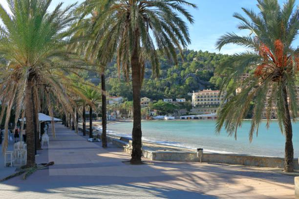 Promenade of the island of Palma de Mallorca during low season.