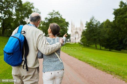 istock Promenade of travelers 840610346