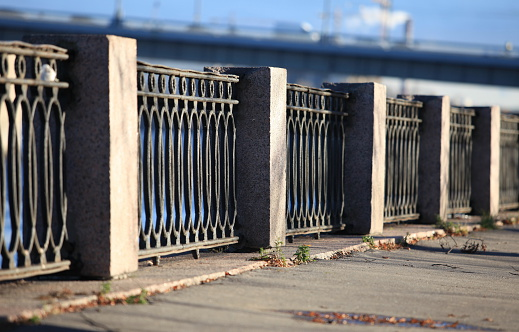 promenade old cast iron fence