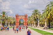 Barcelona/Spain - 17.08.2018: Attractions in the center of Barcelona