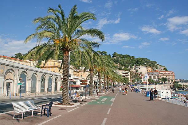 Promende des Anglais, Nice, French riviera. stock photo