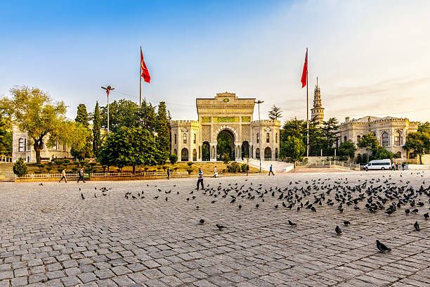 prominent Turkish university located in Istanbul stock photo