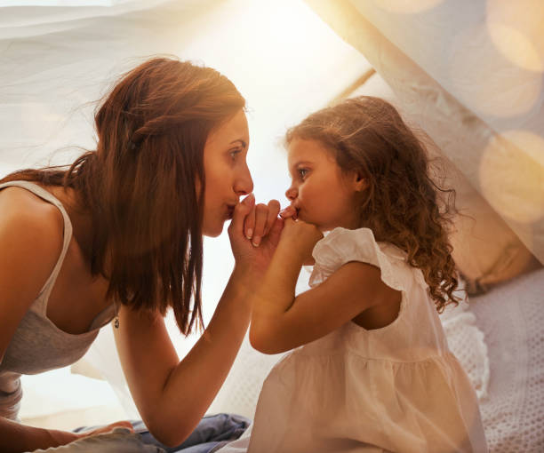 i promise mommy - pinky promise stock photos and pictures