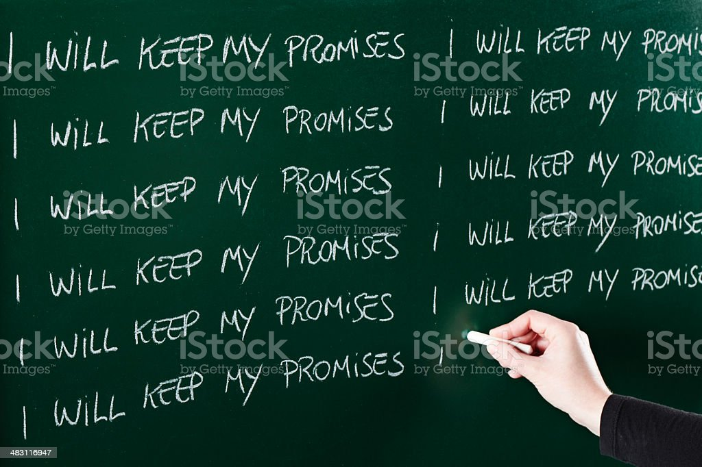 Promises royalty-free stock photo