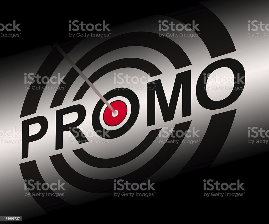 Promo Shows Bargain Advertisement Flyer royalty-free stock photo