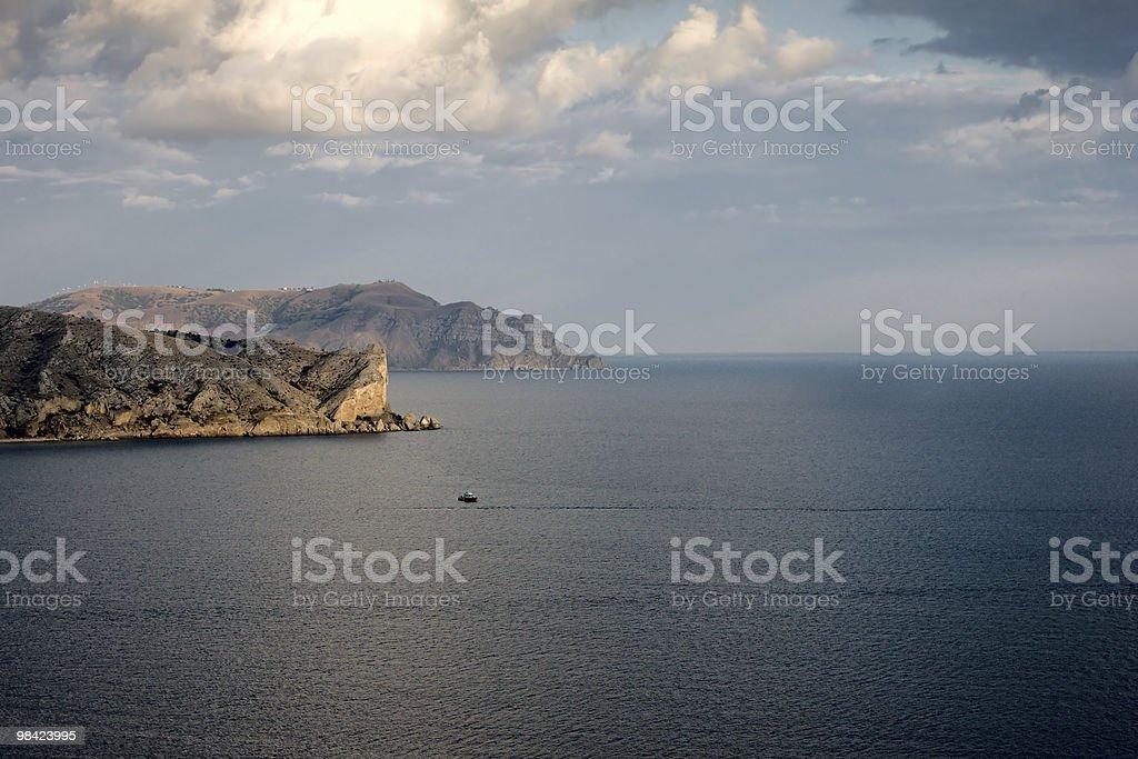 Promontorio in mare foto stock royalty-free