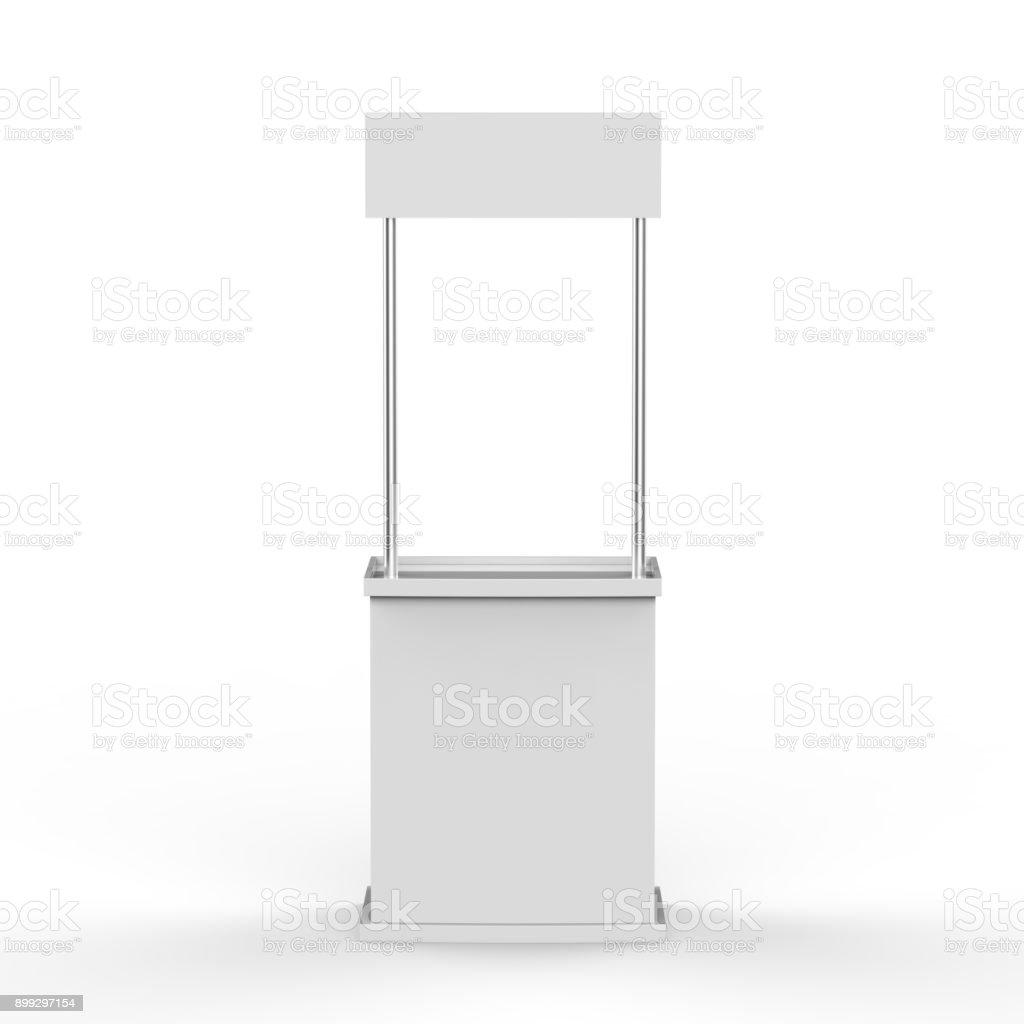 Contador de promoção no fundo branco isolado - foto de acervo