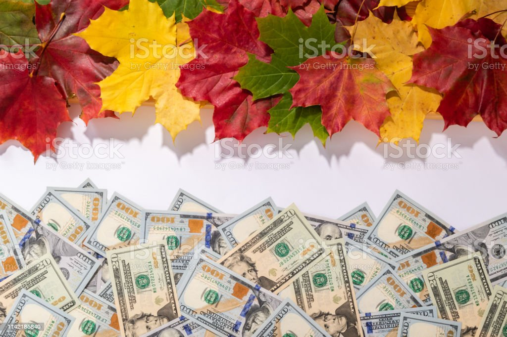 Promotion sale concept background with dollars money and colorful...