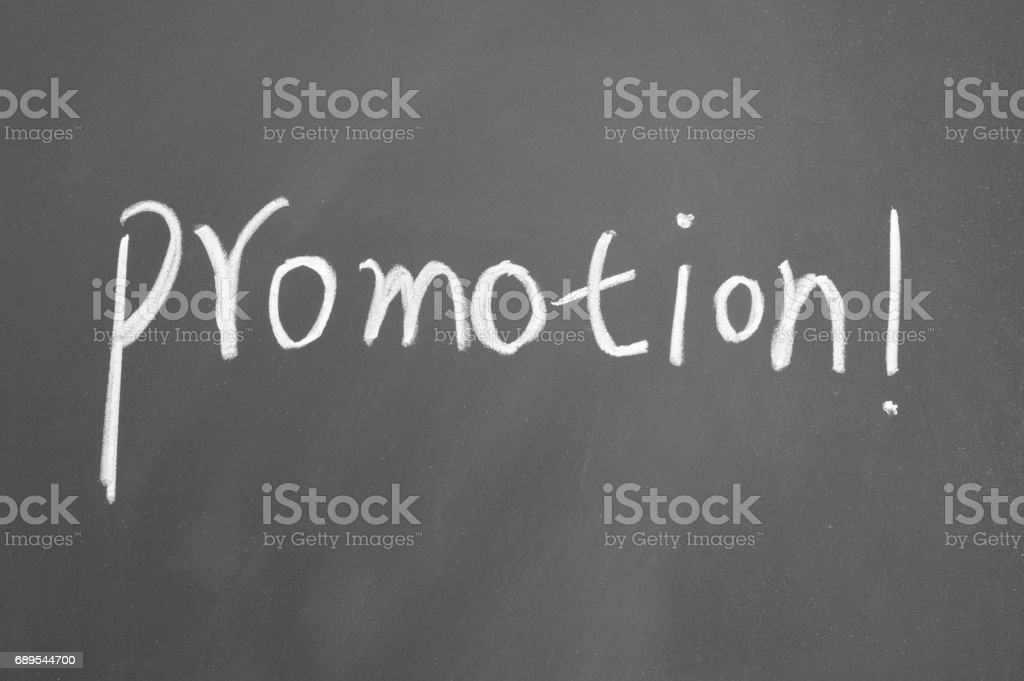 promotion sign stock photo