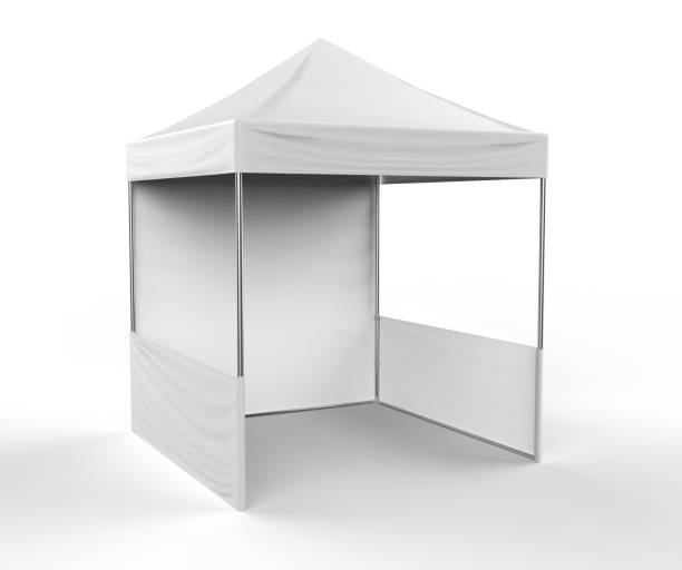 Promotional Advertising Outdoor Event Trade Show Canopy Tent Mobile Marquee. Mock Up, Template. 3d render Illustration Isolated On White Background. Ready For Your Design. Product Advertising. Promotional Advertising Outdoor Event Trade Show Canopy Tent Mobile Marquee. Mock Up, Template. 3d render Illustration Isolated On White Background. Ready For Your Design. tent stock pictures, royalty-free photos & images