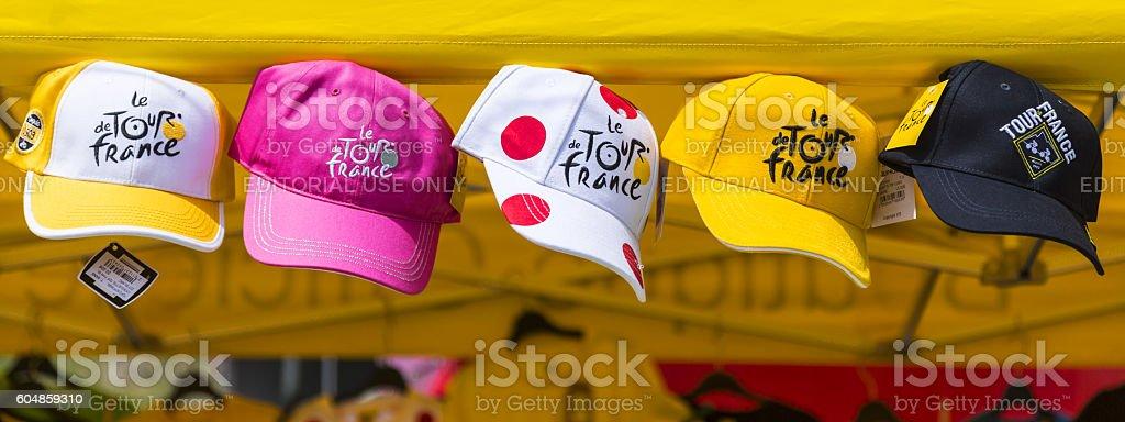 Promotional Caps - Tour de France 2015 stock photo
