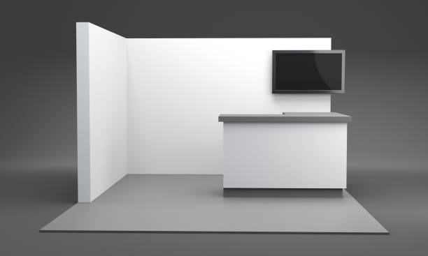 Promotional Exhibition Stand Or Booth stock photo