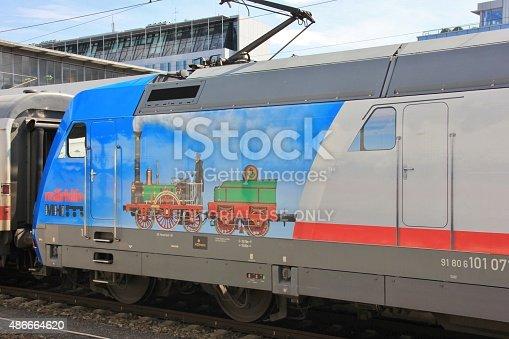 istock Promotional Locomotive in Munich 486664620