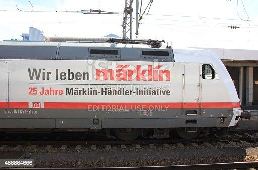 istock Promotional Locomotive in Munich 486664666