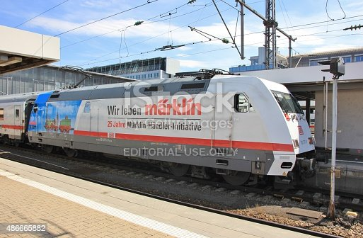 istock Promotional Locomotive in Munich 486665882