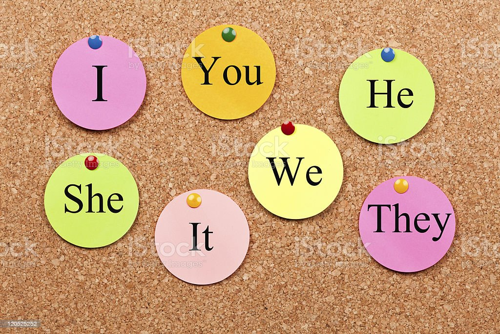Pronouns in the English language royalty-free stock photo