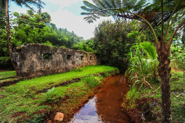 Prony Village, New Caledonia stock photo