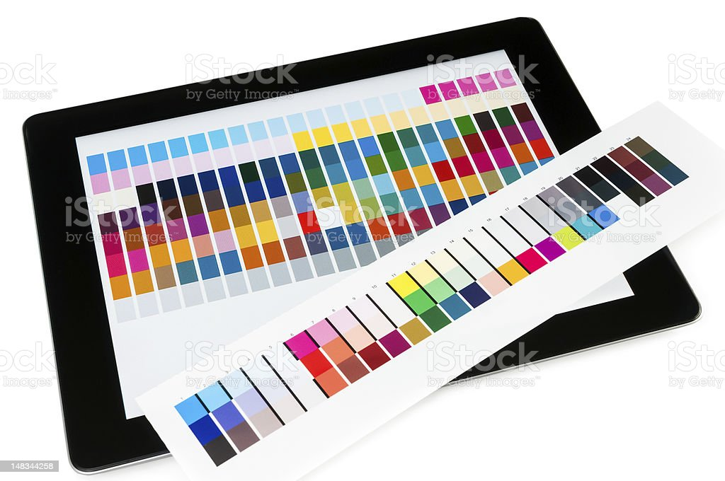 Proofing mobile pc display royalty-free stock photo