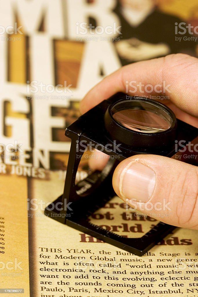Proofing Work royalty-free stock photo